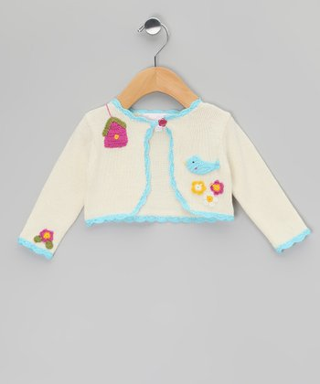 Cream Birdcage Bolero - Infant & Toddler