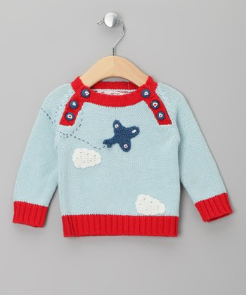 Blue Plane Sweater - Infant