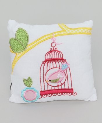 Cream Birdcage Pillow