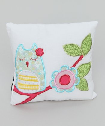 Cream Owl Pillow