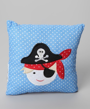 Blue Pirate Pillow