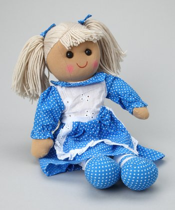 Blue Polka Dot Dress Doll
