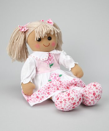 Pink Flower Dress Doll