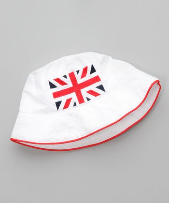 White Union Jack Sunhat