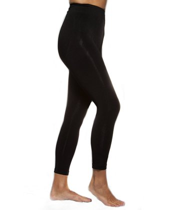 Black Sheen High-Waist Leggings - Women & Plus