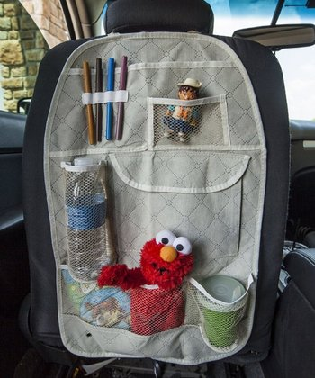 Beige Back Seat Organizer