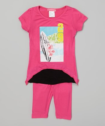 Pink Surf Tunic & Leggings - Infant & Toddler