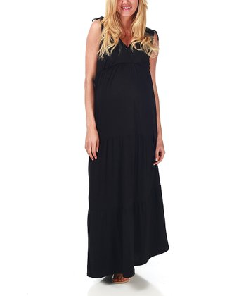 Black Bohemian Maternity & Nursing Maxi Dress - Women