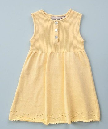 Yellow Knit A-Line Dress - Toddler & Girls