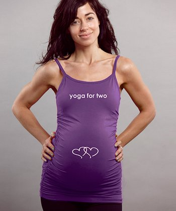 For Two Fitness Royalty 'Yoga for Two' Maternity Camisole