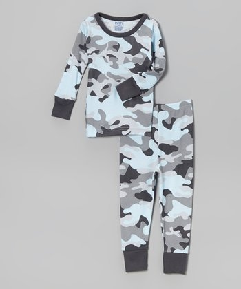 Blue Camo Pajama Set - Infant & Toddler