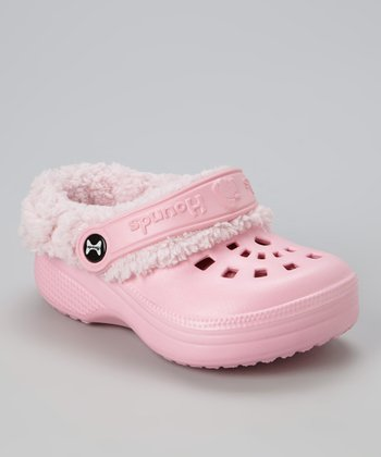 Soft Pink Fleece Clog - Kids