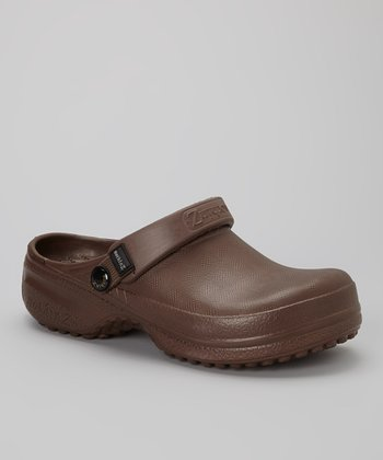 NothinZ Chocolate Brown Closed-Top Clog - Women