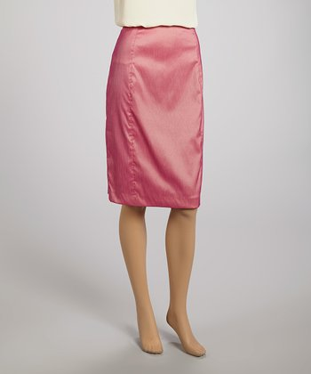 Pink Pencil Skirt - Women