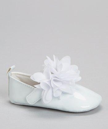 Laura Ashley White Blossom Strap Mary Jane