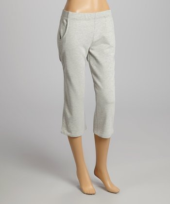 Heather Gray Capri Pants