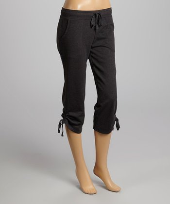 Charcoal Capri Lounge Pants