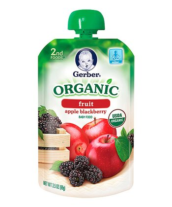 2nd Foods Organic Apple & Blackberry Puree Pouch - Set of 12