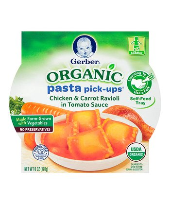 Organic Chicken Carrot Ravioli Pasta Pick-Ups Tray - Set of Eight
