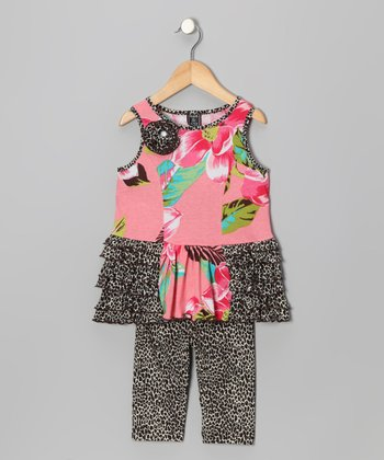 Coral Jungle Princess Tunic & Leggings - Infant, Toddler & Girls