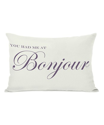 'Bonjour' Throw Pillow