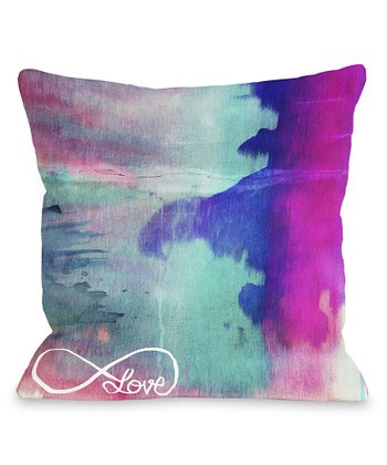 Purple Elysium Throw Pillow