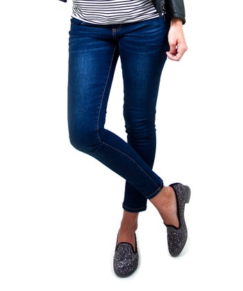 Indigo Wash Under-Belly Maternity Skinny Jeans