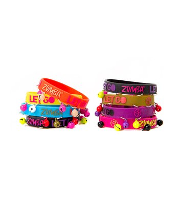 Pink & Yellow Party Your Bell Bracelets Off Bracelet Set