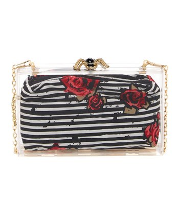 Rose Stripe Box Clutch