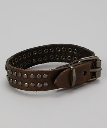 Brown Studded Belt Bracelet