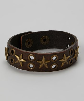Brown Star Studded Bracelet