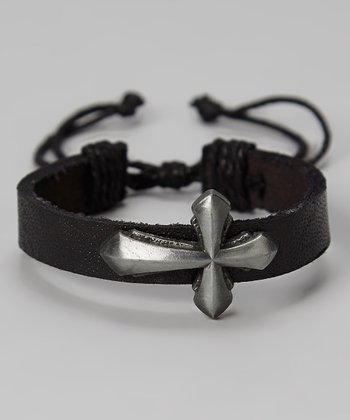 Black Cross Embellished Bracelet