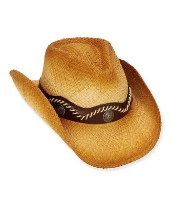Tan Wave Stitched Cowboy Hat