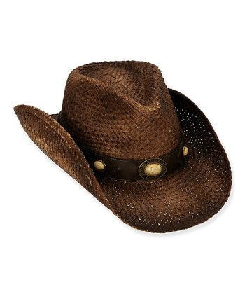 Brown Embellished Cowboy Hat