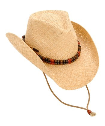 Tan Beaded Cowboy Hat