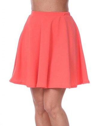 Salmon A-Line Skirt