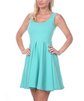 Mint A-Line Sleeveless Dress