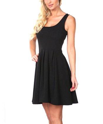 Black A-Line Sleeveless Dress