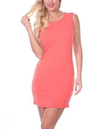 Salmon Sheath Dress