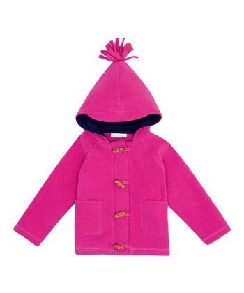 Raspberry Polar Fleece Toggle Jacket - Infant, Toddler & Girls
