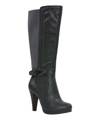Charcoal Zalanna Wide Calf Boot