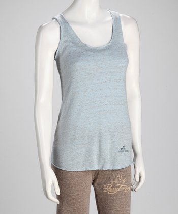 Light Blue 'Body Soul' Eco-Heather Tank - Women