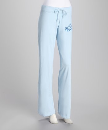 Light Blue Signature Yoga Pants - Women