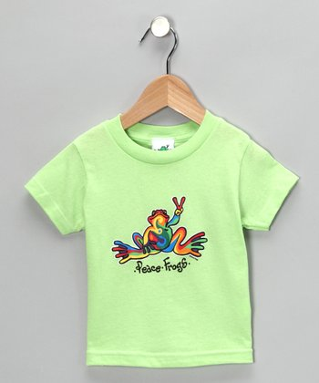 Key Lime Retro Frog Tee - Toddler & Girls