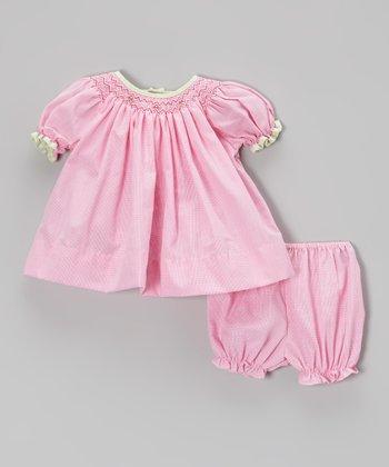 Fuchsia Bishop Dress & Bloomers - Infant