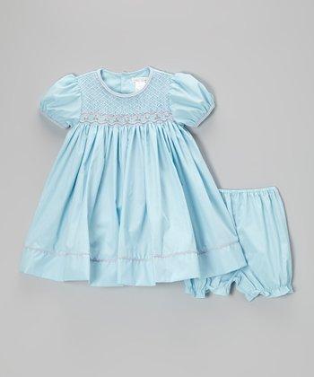 Blue Smocked Dress - Infant & Toddler