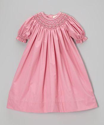 Rose Floral Bishop Dress - Toddler & Girls
