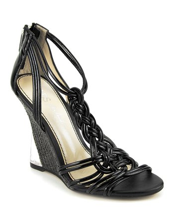 Black Sylvie Leather Wedge