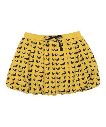 Marigold Bird Bubble Skirt - Toddler & Girls