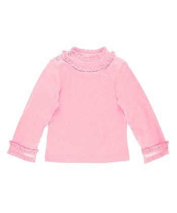 Pink Ruffle Neck Top - Toddler & Girls